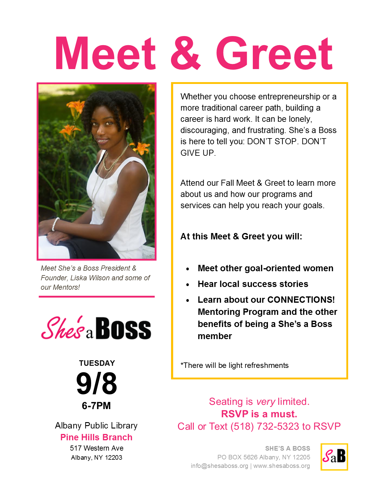 Fall meet greet with shes a boss shes boss m4hsunfo